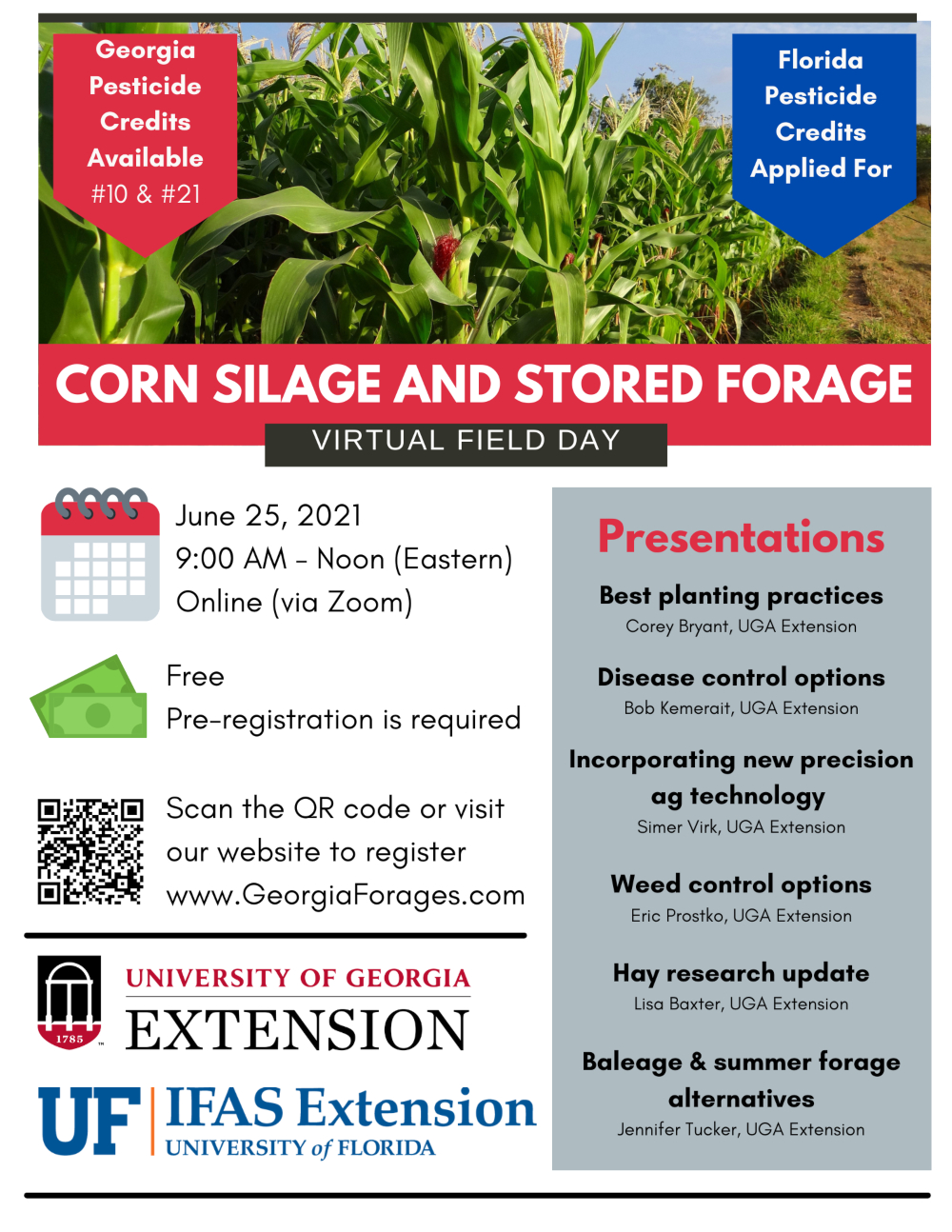 Virtual Corn Silage and Stored Forage Field Day