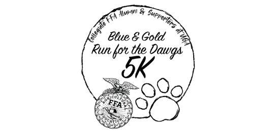 Blue & Gold Run for the Dawgs 5K logo
