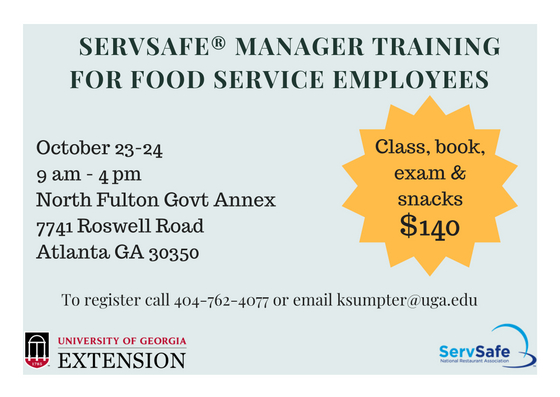 ServSafe Manager Certification Training and Exam | UGA Cooperative ...