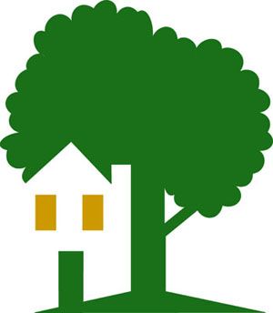 house with tree