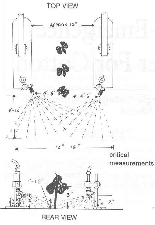 adjust sprayer nozzles