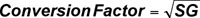 Conversion Factor equation.
