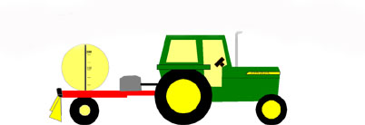 tractor with sprayer