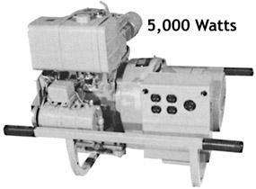 Portable engine driven alternator