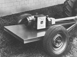 A trailer-mounted alternator