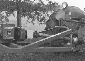 a three-point hitch-mounted alternator