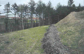 Examples        of compost filter berms.