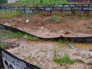 Example of silt fences.