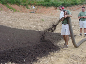 Example        of compost filter berms.