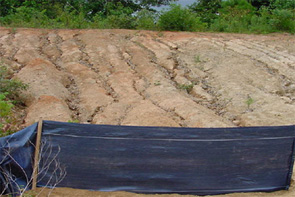 Photo showing erosion        from construction