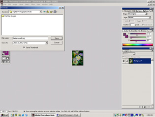 screen shot showing how to save a file