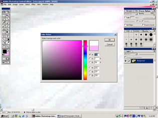 screen shot showing color picker