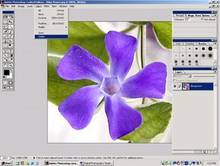 screen shot showing how to select similar pixels