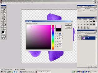 screen shot showing color picker window