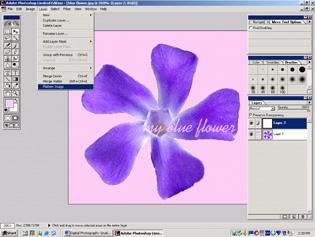 screen shot showing how to flatten image