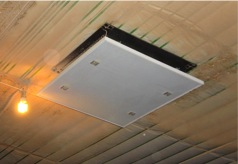 Figure 6.  With an insulated attic, the air is  warmer than outside air.  Using the air allows higher ventilation rates to be used without increasing fuel usage.  These increased ventilation rates will help maintain relative humidity between 50 and 70 percent.
