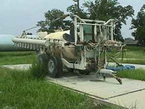 Photo of air-assisted boom sprayer.