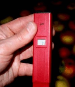 Photo of pH meter