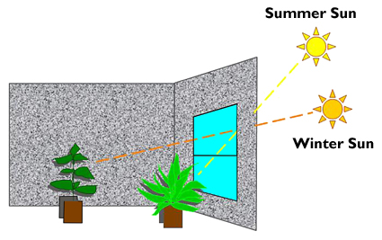 changes in natural light penetration occur with the seasons.
