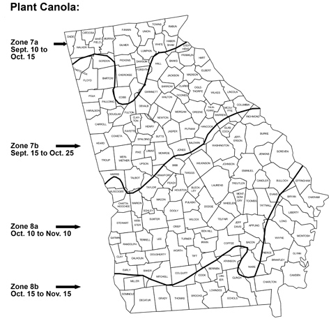 map of growing zones in Ga.