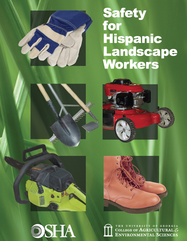 Cover of Safety for Hispanic Landscape Workers book