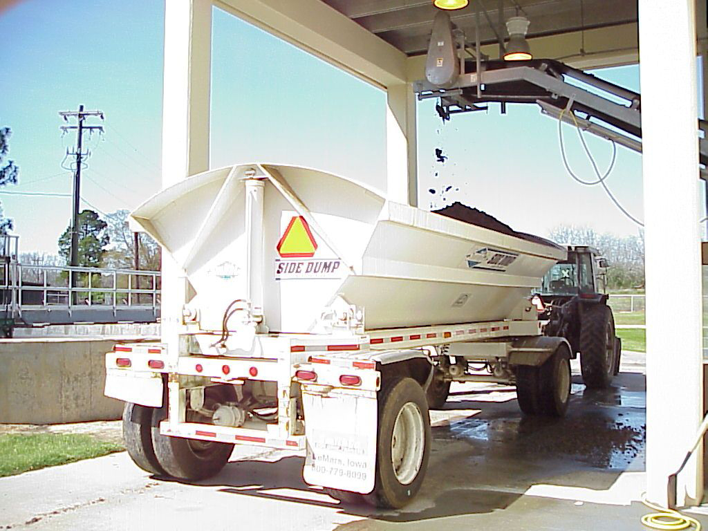 Loading Biosolids into a Tanker Truck