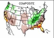 Rainfall changes in La Nina winters