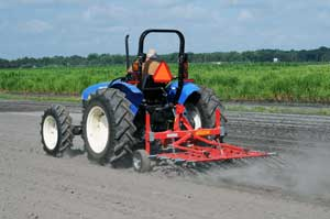 tine weeder on tractor