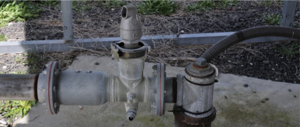 A chemigation check valve