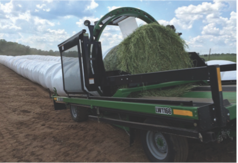 Inline bale wrappers
