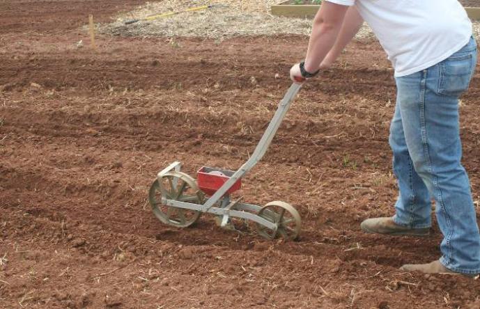 Garden Seed Row Planter