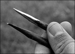 Wedge-shaped cut