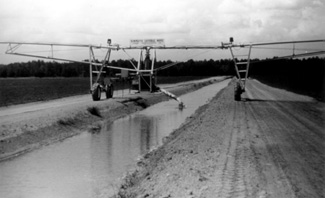 Figure 5. Ditch-fed linear move irrigation system.