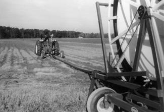 photo of hose-pull traveler irrigation system.