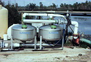 Figure 18. Sand (media) filter installation.