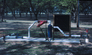 Figure 19. Screen filter and vortex sand separator installations.