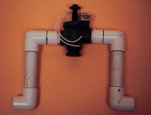 Figure 5. Control station consisting of one solenoid valve for automatic on-off control.