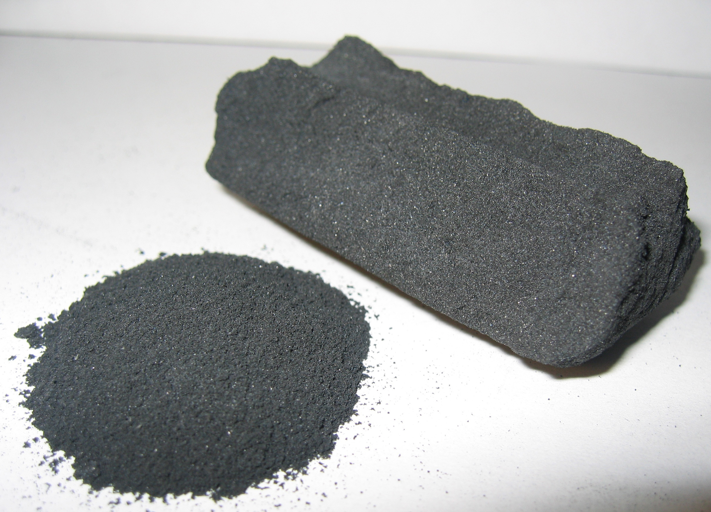 Powdered and granular activated carbon.