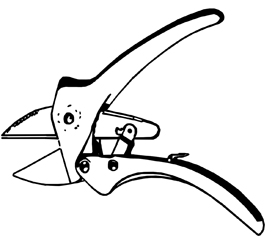 Figure 2. Pruner with ratchet action.