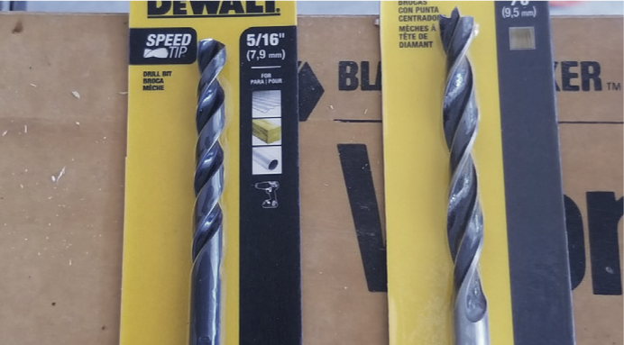 two drill bits
