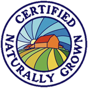 Certified naturally grown label