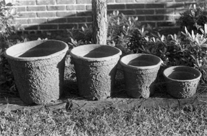 Figure 7. Substantial fiber pots are ideal for container plants.
