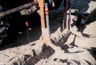 Figure 2. View of a drain plow used to install subsurface drip irrigation tubing.