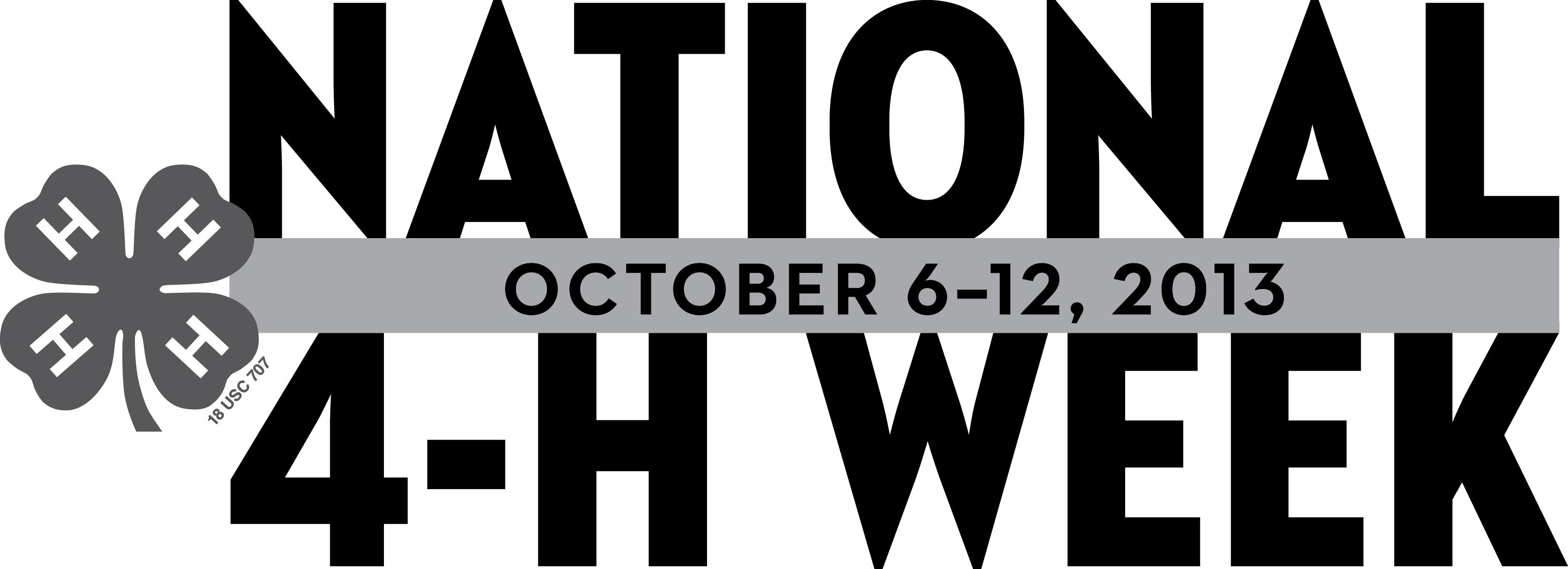 4-H Week 2013 B&W