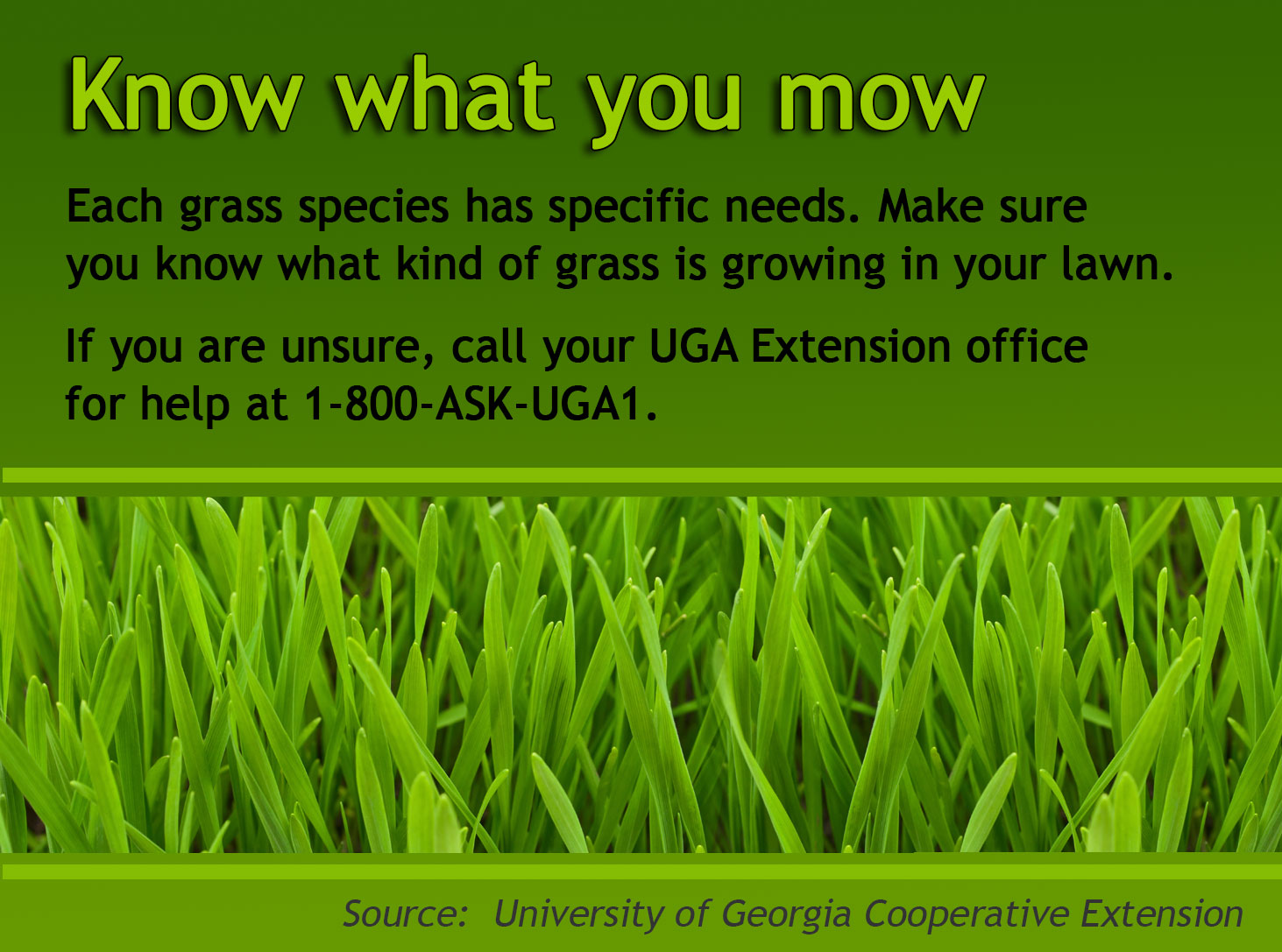 Know What You Mow