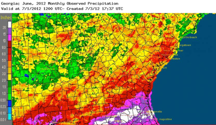 June 2012 Precipitation Map