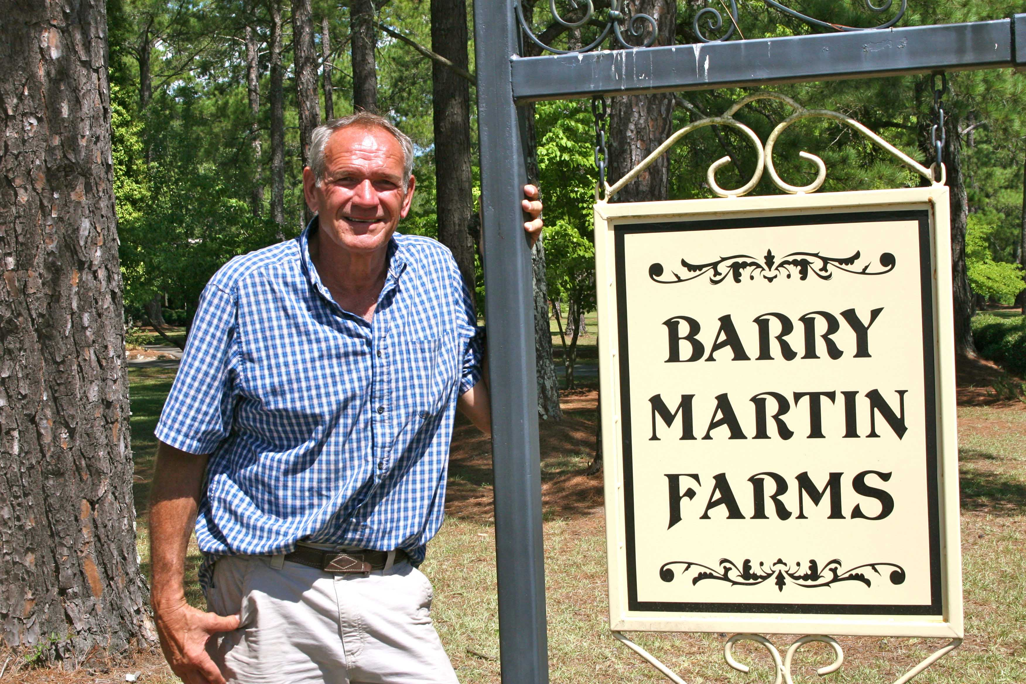 Barry Martin on his farm in Hawkinsville, Ga. Martin is the 2012 Swisher Sweets/Sunbelt Expo Georgia Farmer of the Year.