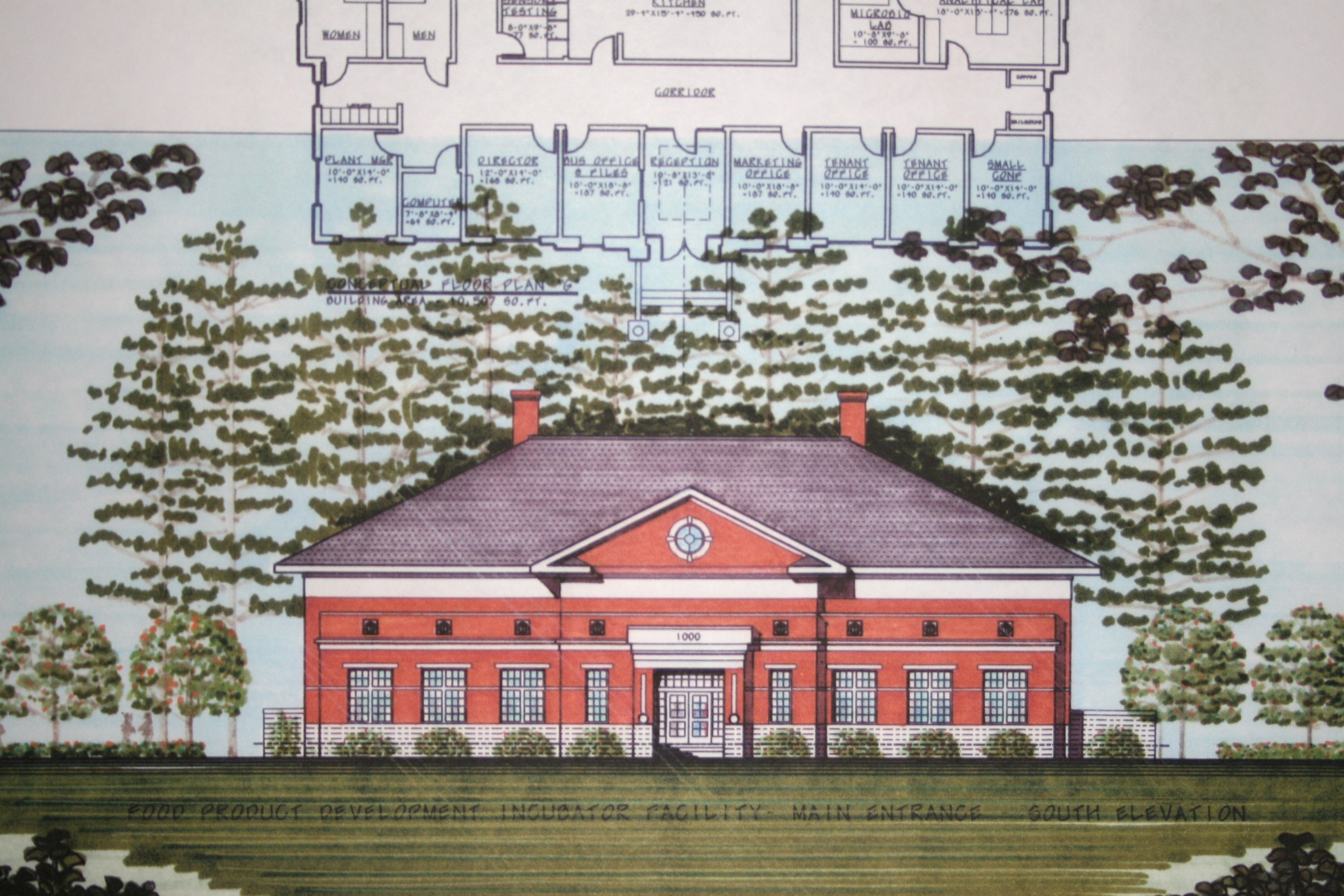 Rendering of the FoodPIC building being built on the UGA campus in Griffin.