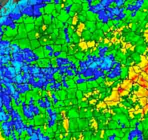 An August 30, 2012 map detailing the precipitation over Georgia since Aug. 22.