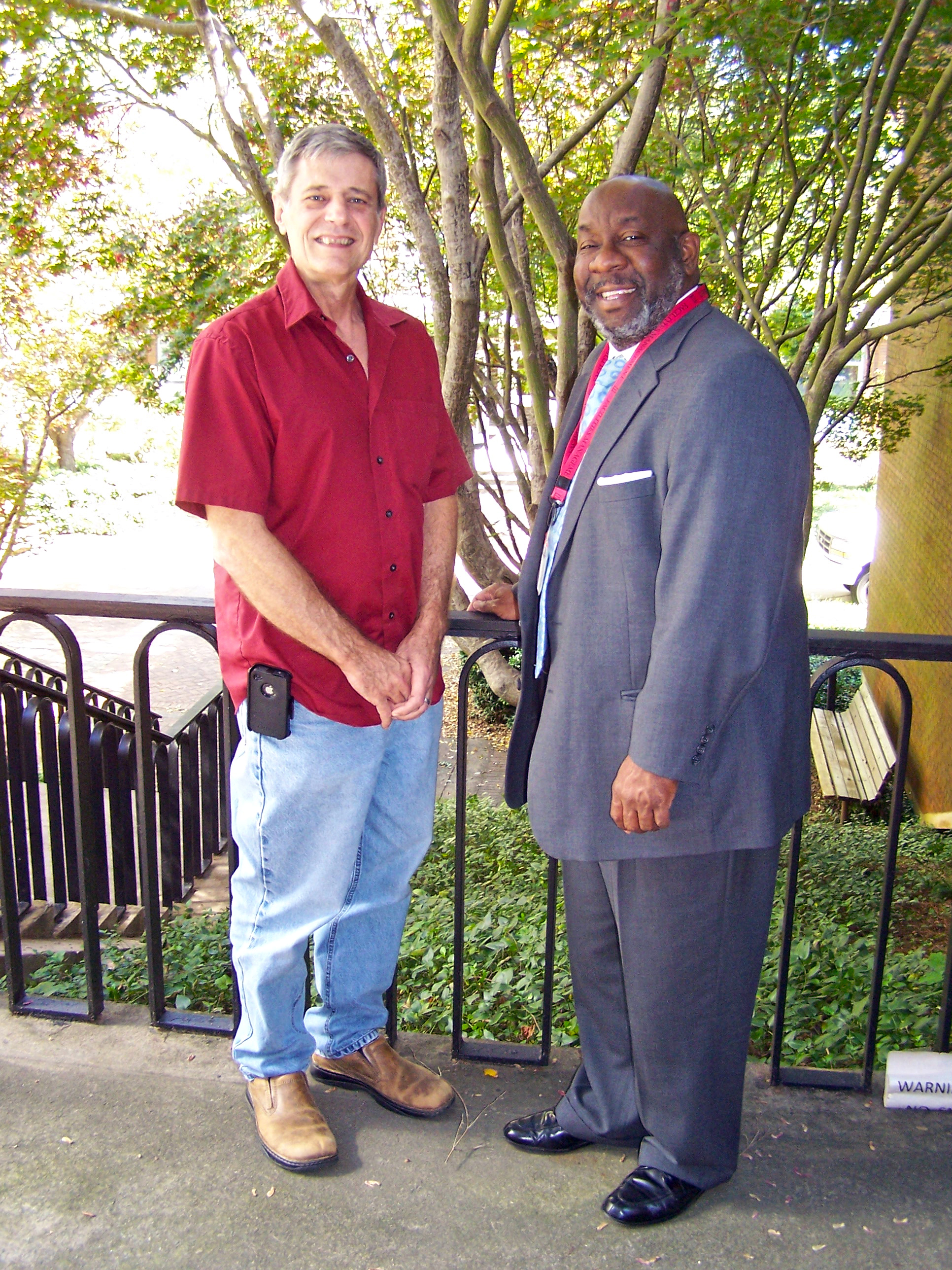 UGA College of Agricultural and Environmental Sciences entomologist Brian Forschler and Dexter Fisher, director of services for UGA Facilities Management, have worked together for the last several years to help keep the Athens Campus free of termite damage.
